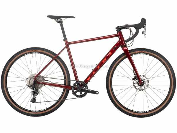 "Vitus Substance VRS-1 Apex Alloy Adventure Road Bike 2021 M, Red, Alloy Frame, 27.5"" Wheels, 11 Speed, Disc Brakes, Rigid, Single Chainring"