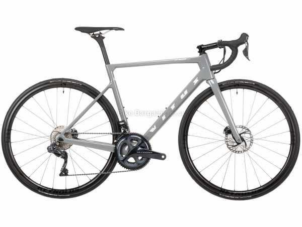 Vitus Vitesse EVO CRS Ultegra Di2 Carbon Road Bike 2021 XL, Grey, Carbon Frame, 22 Speed, Ultegra Drivetrain, 700c Wheels, Disc Brakes, 7.5kg