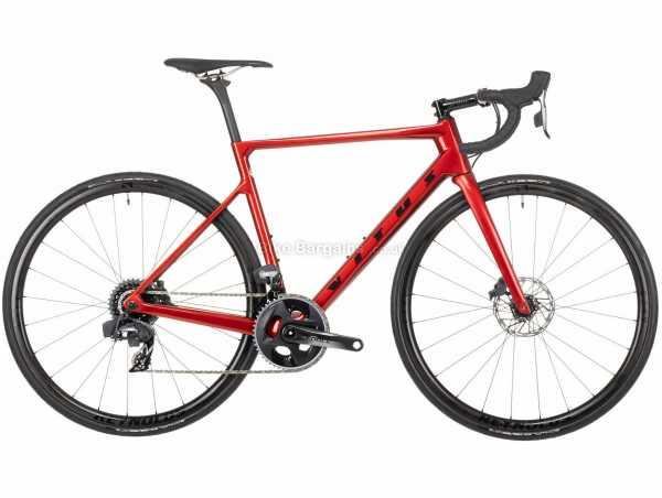 Vitus Vitesse EVO CRS eTap AXS Force Carbon Road Bike 2021 XL, Red, Carbon Frame, 700c Wheels, 24 Speed, Disc Brakes, Rigid, Double Chainring