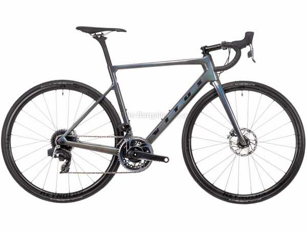 Vitus Vitesse EVO CRX Red eTap AXS Carbon Road Bike 2021 M, Grey, Black, Carbon Frame, 24 Speed, Red Drivetrain, 700c Wheels, Disc Brakes, 7.4kg