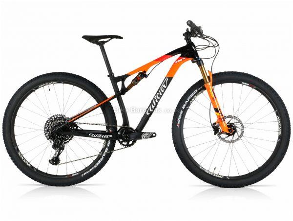 "Wilier 110 FX GX Carbon Full Suspension Mountain Bike 2020 S, Black, Orange, GX Groupset, Carbon Frame, 12 Speed, 29"" Wheels, Single Chainring, Disc, Full Suspension"