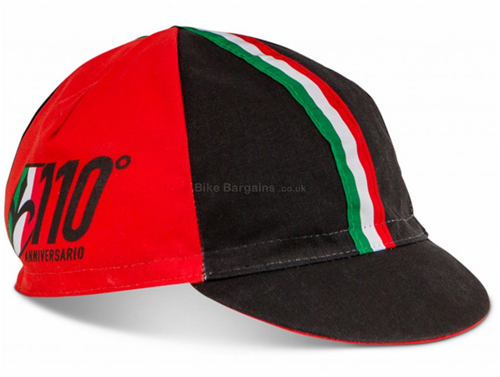 Wilier 110th Anniversary Cap One Size, Black, Red, White