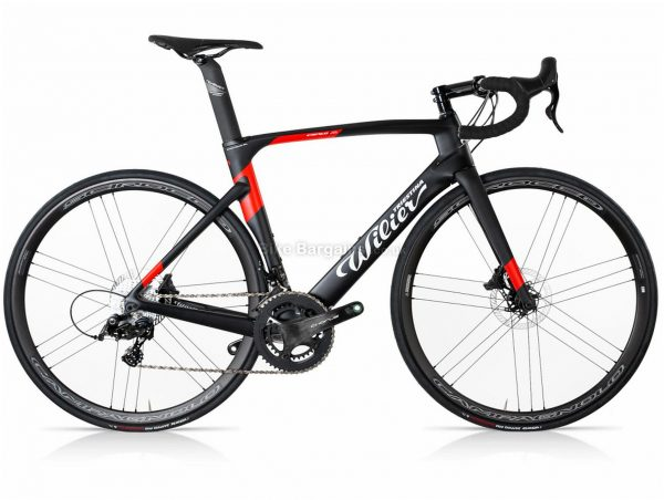 Wilier Cento 1 Air Chorus Scirocco Disc Carbon Road Bike M, Black, Red, Chorus Groupset, Carbon Frame, 24 Speed, 700c Wheels, Double Chainring, Disc