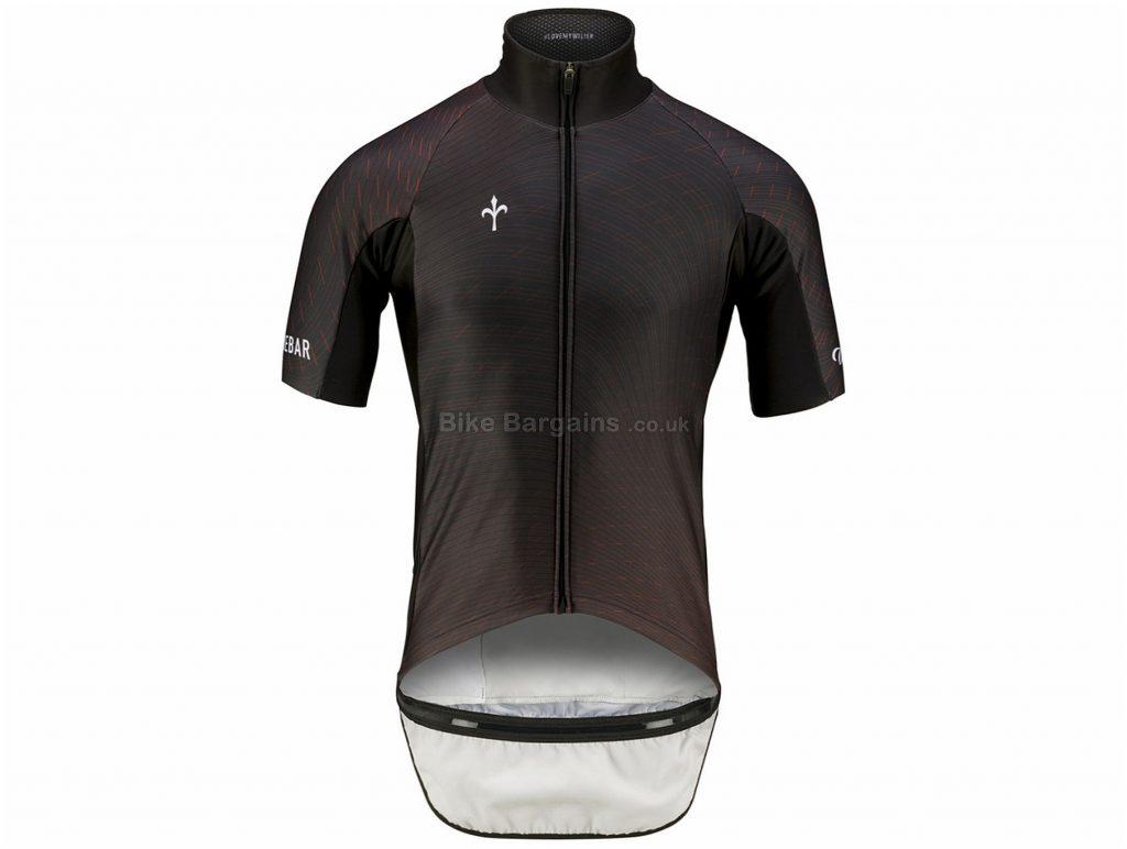 Wilier Rain Proof Short Sleeve Jersey S,M,L,XL,XXL, Black, Short Sleeve, 3 rear pockets, Zip, Waterproof