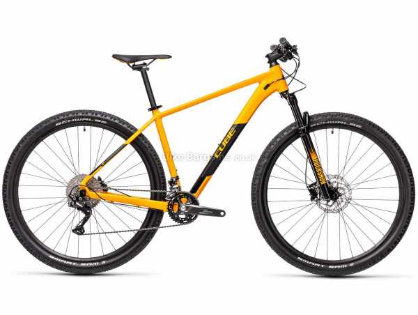 """Cube Attention Alloy Hardtail Mountain Bike 2021 23"""", Grey, Red, Alloy Frame, 20 Speed, Deore Groupset, Disc Brakes, Double Chainring, 13.7kg"""
