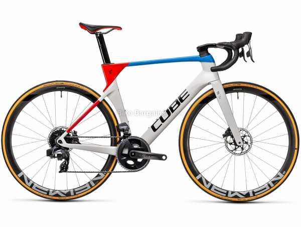 Cube Litening C:68X Race Carbon Road Bike 2021 56cm, White, Red, Blue, Carbon Frame, 24 Speed, Force Groupset, Disc Brakes, Double Chainring, 7.6kg