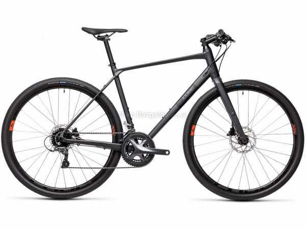 Cube SL Alloy Road City Bike 2021 53cm,56cm, Grey, Black, Alloy Frame, 16 Speed, Claris Groupset, Disc Brakes, Double Chainring, 10.8kg