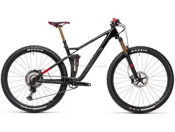 Cube Stereo 120 HPC SLT 29 Carbon Full Suspension Mountain Bike 2021 XL, Black, Grey, Red, Carbon Frame, 12 Speed, XT Groupset, Disc Brakes, Single Chainring, 11.9kg