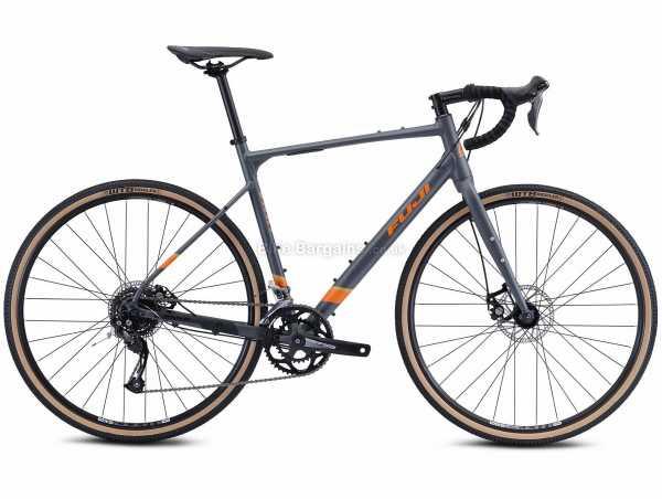 Fuji Jari 2.5 Alloy Gravel Bike 2021 48cm,52cm,54cm,55cm,57cm,60cm, Grey, Orange, Alloy Frame, 16 Speed, Altus Groupset, Disc Brakes, Double Chainring