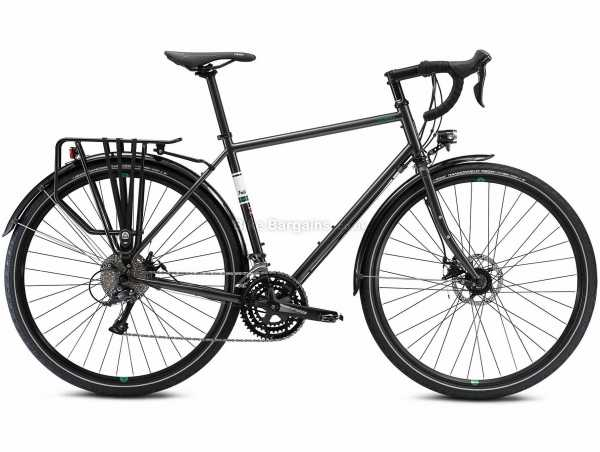 Fuji Touring Disc LTD Steel Road Bike 2021 54cm,56cm,58cm, Black, Steel Frame, 27 Speed, Sora Groupset, Disc Brakes, Triple Chainring