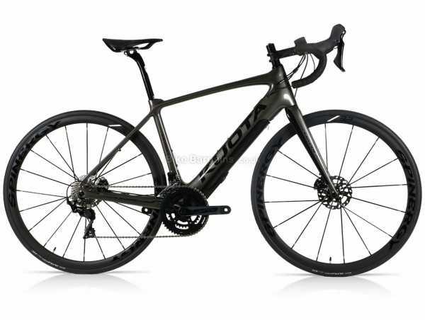 Kuota Kathode 105 Carbon Electric Road Bike M, Black, Carbon Frame, 105, 22 Speed, 700c Wheels, Disc Brakes, Rigid, Double Chainring