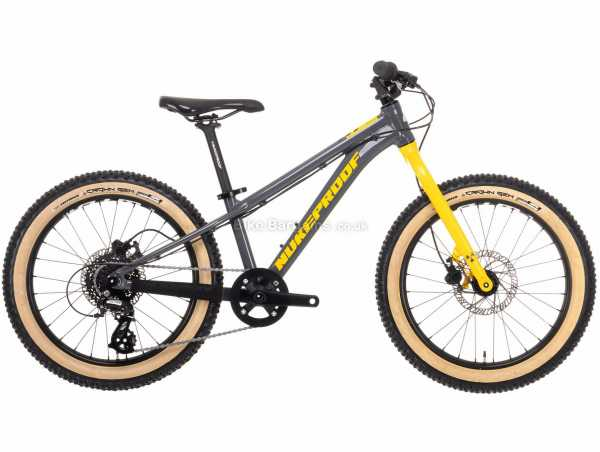 Nukeproof Cub-Scout 20 Altus Sport Alloy Kids Bike M, Grey, Yellow, Alloy Frame, 8 Speed, Altus Groupset, Disc Brakes, Single Chainring