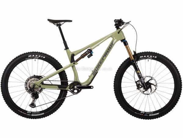 Nukeproof Reactor 275 Factory XT Carbon Full Suspension Mountain Bike 2021 L, Green, Black, Carbon Frame, 12 Speed, XT Groupset, Disc Brakes, Single Chainring, 14kg