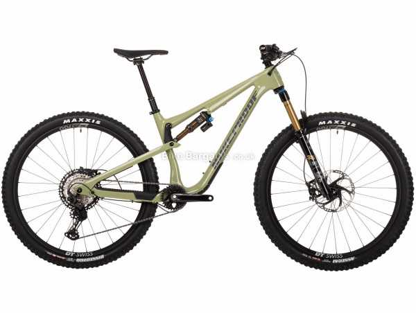 Nukeproof Reactor 290 Factory XT Carbon Full Suspension Mountain Bike 2021 XL, Green, Black, Carbon Frame, 12 Speed, XT Groupset, Disc Brakes, Single Chainring, 14kg