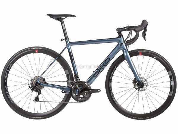Orro Pyro Evo 7020-Hydro R800 Carbon Road Bike 2021 XL, Blue, Black, Carbon Frame, 22 Speed, 105 Groupset, Disc Brakes, Double Chainring