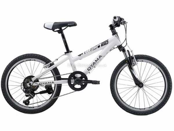 "Oyama JM20 Alloy Kids MTB Bike M, White, Green, Yellow, Red, Alloy Frame, 6 Speed, 20"" Wheels, Caliper Brakes, Hardtail, Suspension, Single Chainring"