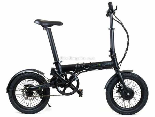 """Perry eHopper 16"""" Folding Alloy Electric Bike 2021 M, Black, Blue, Red, Alloy Frame, Single Speed, Disc Brakes, Single Chainring, 14kg"""