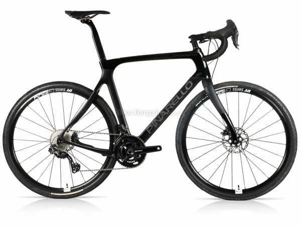 Pinarello Crossista GRX Di2 Carbon Gravel Bike 2020 58cm, Black, Carbon Frame, GRX, 22 Speed, 700c Wheels, Disc Brakes, Rigid, Double Chainring