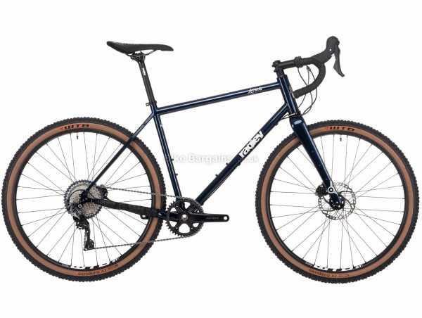 Ragley Trig Steel Gravel Bike 2021 L, Blue, Black, Steel Frame, 11 Speed, SLX, GRX Groupset, Disc Brakes, Single Chainring
