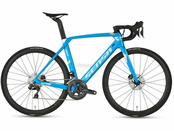 Sensa Giulia Evo Disc Ultegra Di2 Carbon Road Bike 2020 55cm, Blue, Black, Carbon Frame, Ultegra, 22 Speed, 700c Wheels, Disc Brakes, Rigid, Double Chainring