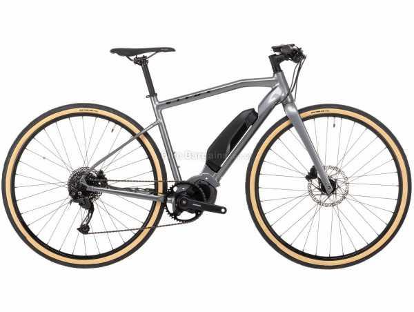 Vitus Mach Alloy Electric Bike 2021 M, Grey, Black, Alloy Frame, 9 Speed, Alivio Groupset, Disc Brakes, Single Chainring, 17.32kg
