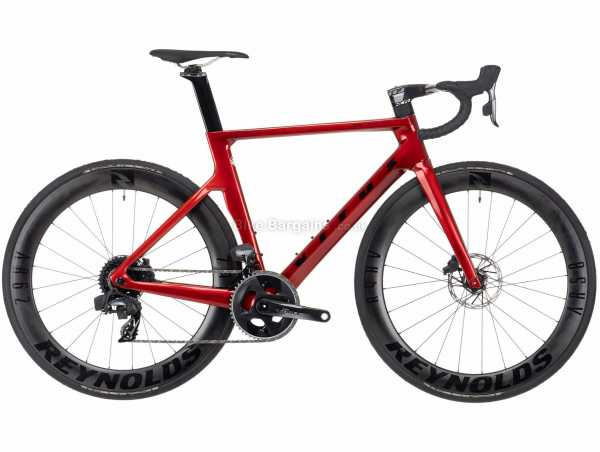 Vitus ZX-1 EVO CRS eTap AXS Force Carbon Road Bike 2021 XS, Red, Black, Carbon Frame, 24 Speed, Force Groupset, Disc Brakes, Double Chainring, 8.2kg