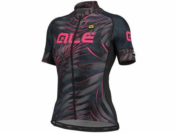 Ale Ladies Graphics PRR Sunset Short Sleeve Jersey XL, Black, White, Red, Ladies, Short Sleeve, Zip, 3 Rear Pockets, Polyester, Elastane