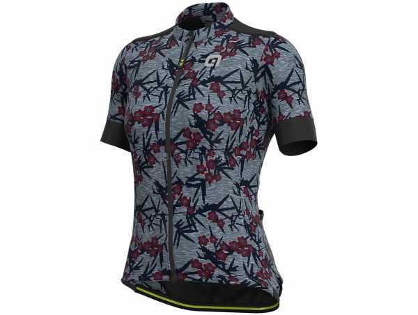 Ale Ladies Joshua Short Sleeve Jersey XL, Grey, Green, Ladies, Short Sleeve, Zip, 3 Rear Pockets, Polyester, Cotton