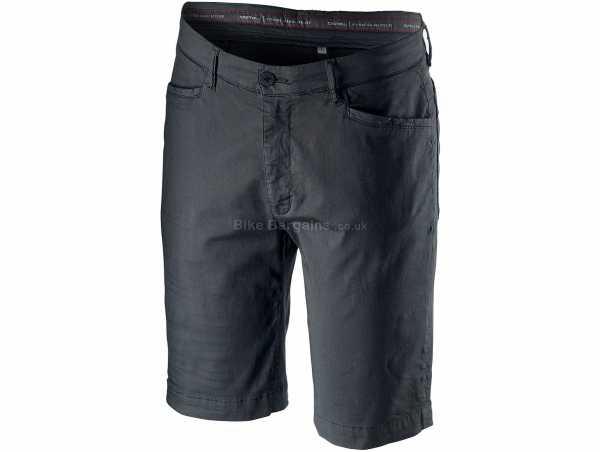 Castelli VG 5 Pocket Shorts XXL, Grey, Green, Men's, Baggy, Cotton, Elastane