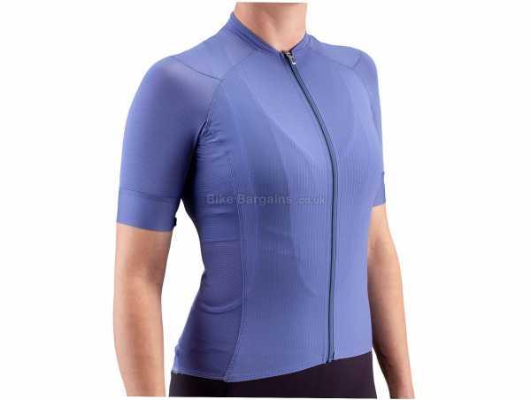 Isadore Ladies I7A3O7E Echelon Lightweight Short Sleeve Jersey L, Blue, Ladies, Short Sleeve, Zip, 3 Rear Pockets, Polyamide, Elastane