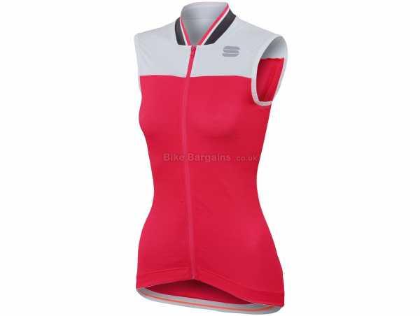 Sportful Ladies Grace Sleeveless Jersey XL, Black, Grey, Ladies, Sleeveless, Zip, 3 Rear Pockets, Polyester, Elastane