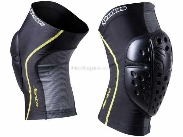 Alpinestars Vento Knee Pads XS, Black, Yellow, Nylon, Polyester, Elastane, 250g