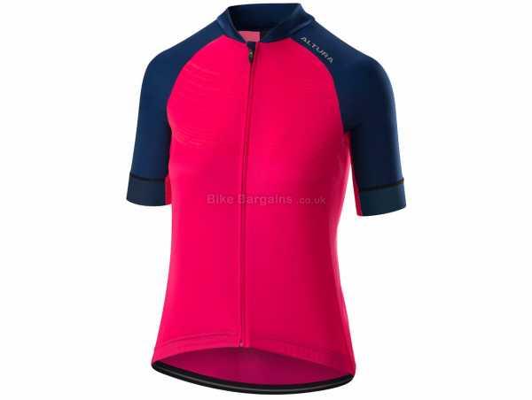 Altura Firestorm Ladies Short Sleeve Jersey 2019 8,10,12,14,16,18, Pink, Blue, Short Sleeve, Zip, 3 rear pockets, Ladies