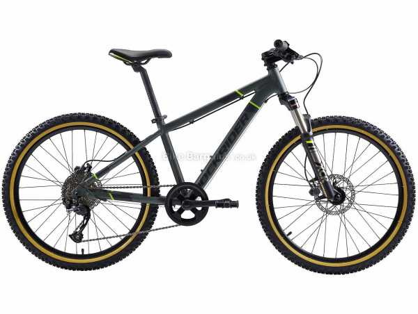 "B'Twin Rockrider ST 920 24"" Kid's Alloy Hardtail Mountain Bike M, Green, Alloy Frame, 24"", 12kg, Altus 9 Speed, Disc, Single Chainring"