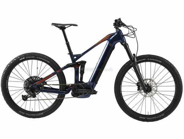 "B'Twin Stilus 27.5+ V2 Alloy Full Suspension Electric Mountain Bike L,XL, Blue, Orange, Alloy Frame, 27.5"", Eagle 12 Speed, Disc, Full Suspension, Single Chainring"