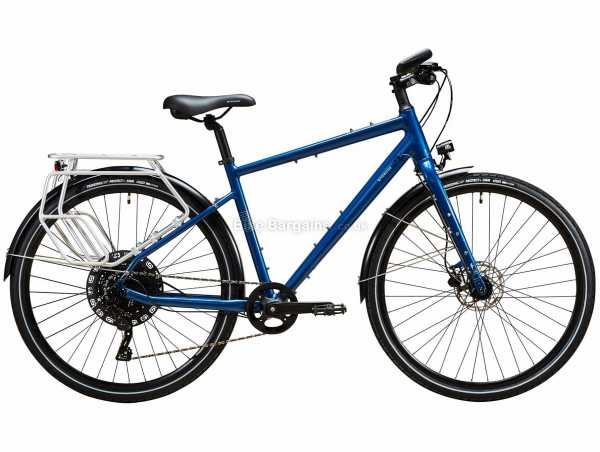 B'Twin Riverside RT 520 Alloy Touring City Bike L, Blue, Alloy Frame, 11 Speed, 700c Wheels, Microshift, 16kg, Single Chainring, Disc Brakes