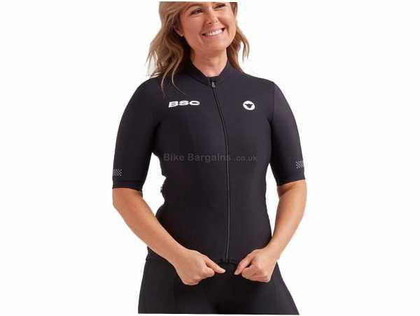 Black Sheep Ladies Elements Thermal Short Sleeve Jersey XXS,M, Black, Ladies, Short Sleeve, Zip, Windproof, Waterproof, Thermal, Nylon, Polyester, Elastane