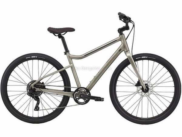 "Cannondale Treadwell 2 Ltd Alloy City Bike 2021 M, Grey, Alloy Frame, Microshift 9 Speed, Disc Brakes, 27.5"" Wheels, Single Chainring"