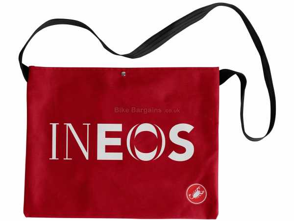 Castelli Team INEOS Feed Bag One Size, Red, Cotton