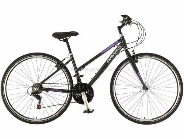 """Dawes Discovery Trail Low Step Ladies Alloy City Bike 2019 18"""", Grey, Alloy Frame, Tourney 18 Speed, 700c Wheels, Caliper Brakes, Triple Chainring, 13.4kg"""