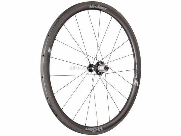 FSA Metron 40 SL Carbon Tubular Rear Road Wheel 700c, Rear, Black, Carbon, Caliper Brakes, 11 Speed