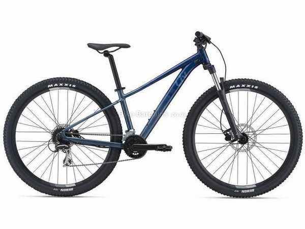 "Giant Liv Tempt 2 27.5 Ladies Alloy Hardtail Mountain Bike 2021 M, Blue, Black, Alloy Frame, Acera & Altus 16 Speed, 27.5"" Wheels, Disc Brakes, Double Chainring"