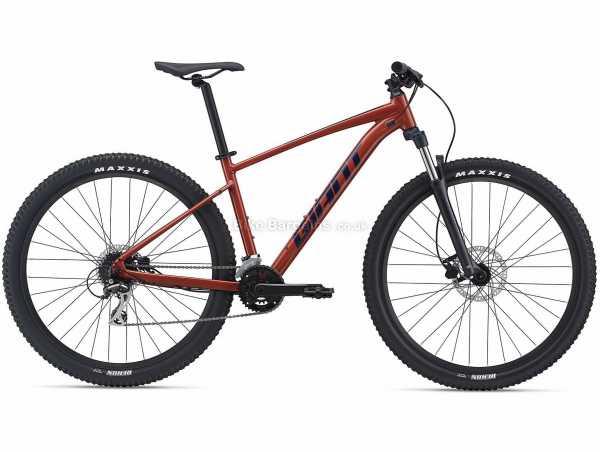 """Giant Talon 2 27.5 Alloy Hardtail Mountain Bike 2021 M, Red, Alloy Frame, Acera & Altus 16 Speed, 27.5"""" or 29"""" Wheels, Disc Brakes, Double Chainring"""