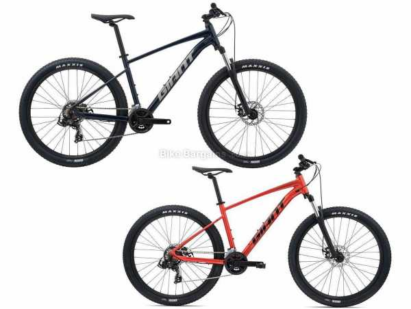 """Giant Talon 4 27.5 Alloy Hardtail Mountain Bike 2021 L, Red, Alloy Frame, Tourney & Altus 16 Speed, 27.5"""" or 29"""" Wheels, Disc Brakes, Double Chainring"""