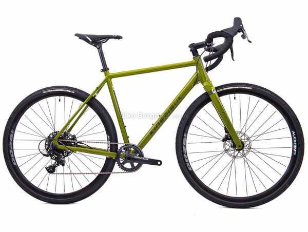 Kinesis G2 Alloy Adventure Gravel Bike 2021 51cm,54cm,57cm,60cm, Green, Alloy Frame, Apex 11 Speed Groupset, 700c wheels, Disc Brakes, 10kg, Single Chainring