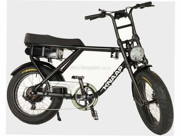 "Knaap Bikes AMS Alloy Electric Bike M, Black, Alloy Frame, 20"", 28kg, 7 Speed, Disc, Rigid, Single Chainring"