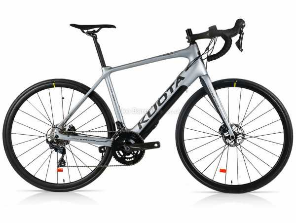 Kuota Kathode Ultegra Carbon Road Electric Bike 2021 L, Silver, Carbon Frame, Ultegra 22 Speed Groupset, 700c wheels, Disc Brakes, Double Chainring