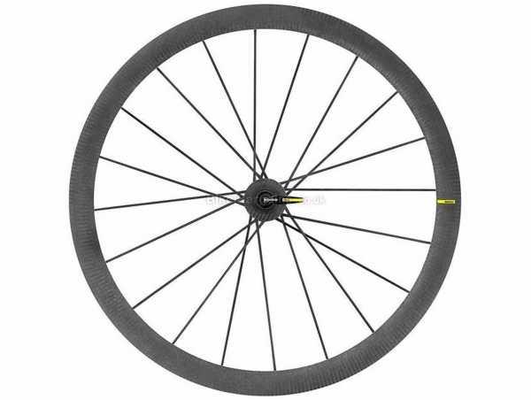Mavic Cosmic Ultimate Tubular Carbon Front Road Wheel 700c, Front, Black, Carbon, 555g, Caliper Brakes