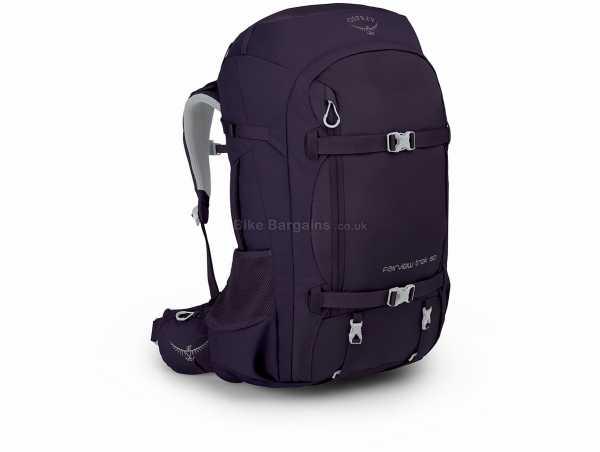 Osprey Fairview Trek Ladies 50 Litre Backpack 50 Litres,62cm,38cm,22cm, Purple, Nylon, Polyester, 1.85kg