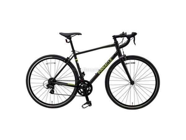Pinnacle Laterite 1 Alloy Road Bike 2021 S,L, Grey, Yellow, Alloy Frame, Tourney 14 Speed, 700c Wheels, Caliper Brakes, Double Chainring